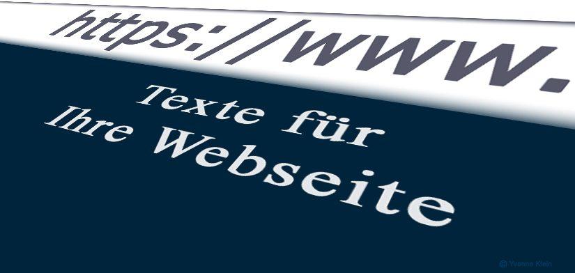 Ich texte für Ihre Website